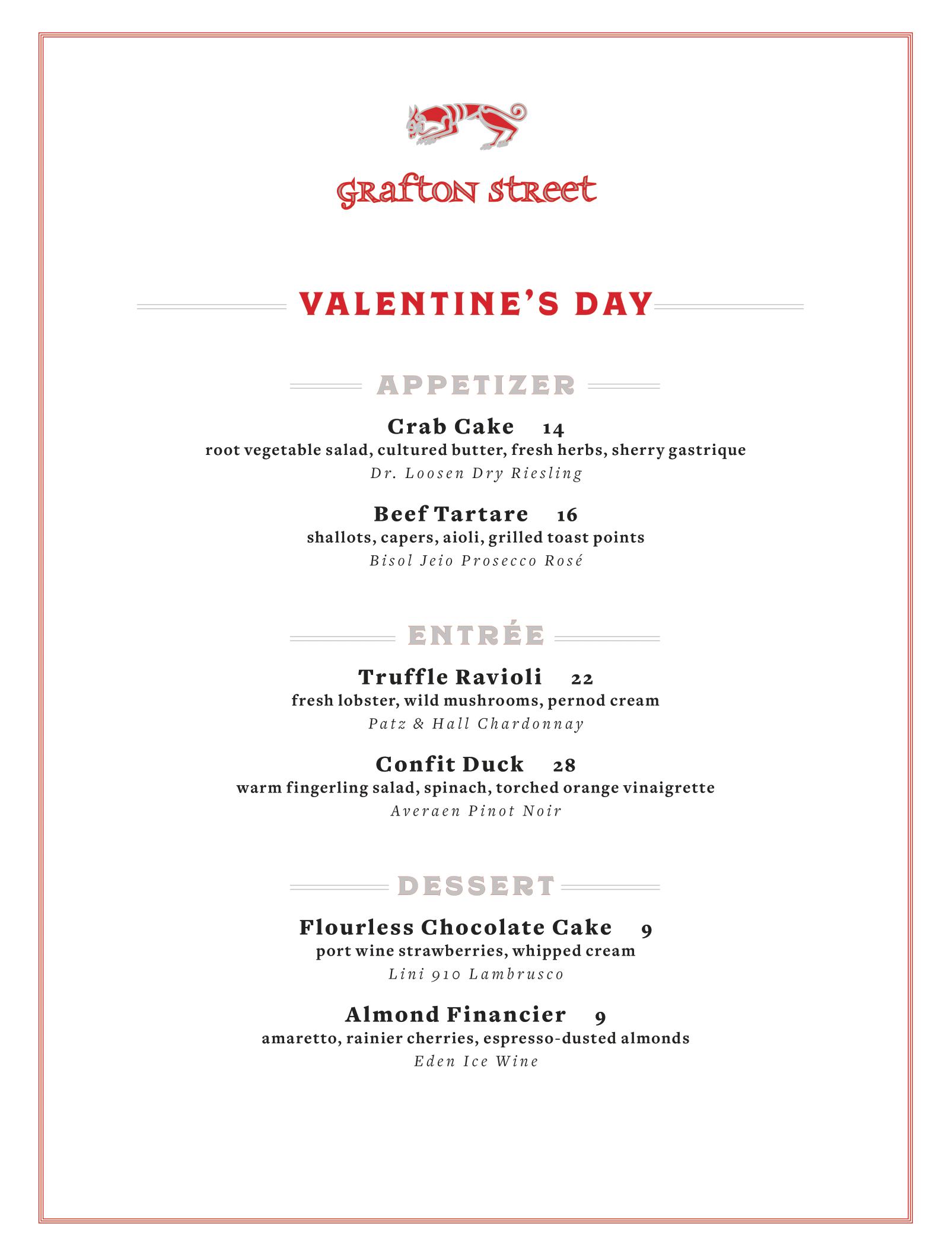 Grafton Street Pub Valentine's