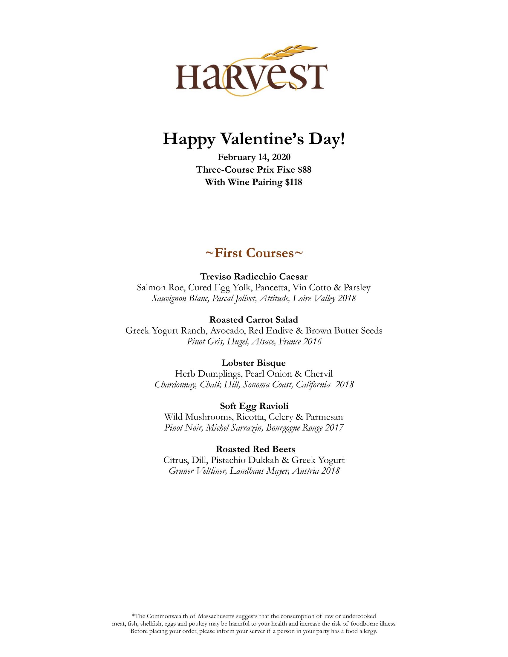 Harvest Valentine's 2020